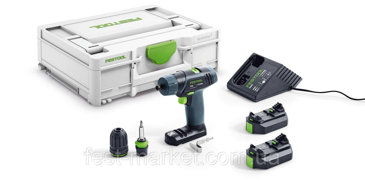Аккумуляторная дрель-шуруповёрт TXS Li 2,6-Plus Festool 576101