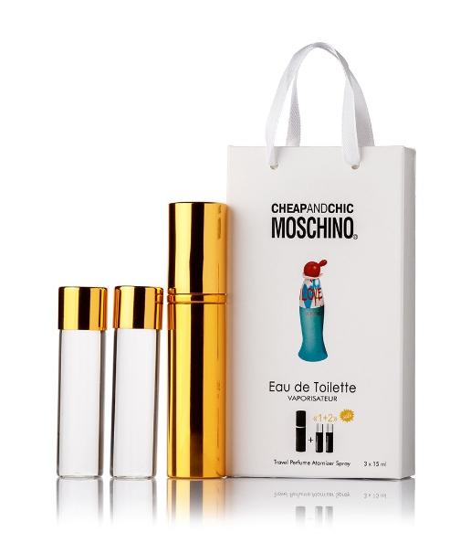 Подарочный парфюмерный набор с феромонами женский Moschino I Love Love (Москино Ай Лав Лав) 3x15 мл