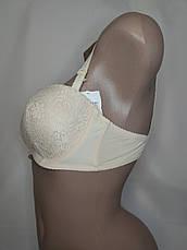 Женское белье, бюстгальтер Donafen Анжелика 75С. 80С. 85C Беж. (на силикон.ленте), фото 3