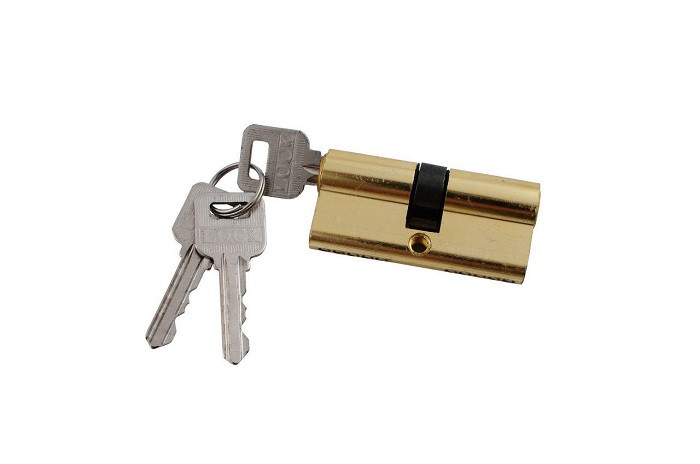 Цилиндр для замка узкая китай 60 mm 3 ключа