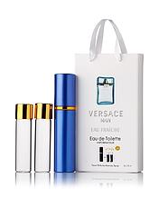 Подарочный парфюмерный набор с феромонами мужской Versace Man Eau Fraiche (Версаче Мэн Фреш) 3x15 мл