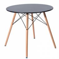 Стол обеденный  Тауэр Вуд, круглый, дерево, бук, диаметр 100 см, цвет черный
