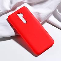 Чехол Soft Touch для Xiaomi Redmi 9 силикон бампер красный