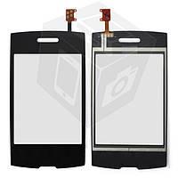Touchscreen (сенсорный экран) для LG P520 Dual Sim, оригинал (черный)