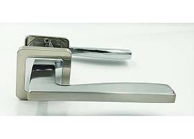 Дверная ручка на квадратной розетке TRION RUMBA-AL SN/NP  квадрат