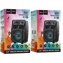 Портативная bluetooth колонка Hoco DS07 с микрофоном Black
