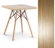 Стол обеденный квадратный  Нолас МДФ, дерево, бук, диаметр 80 см, цвет дуб