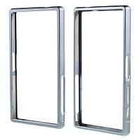 Чехол бампер Dual Aluminum Alloy для Sony Xperia Z5 Compact серый