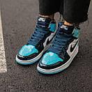 Женские кроссовки Air Jordan 1 Retro High Patent Blue, фото 4