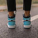 Женские кроссовки Air Jordan 1 Retro High Patent Blue, фото 7