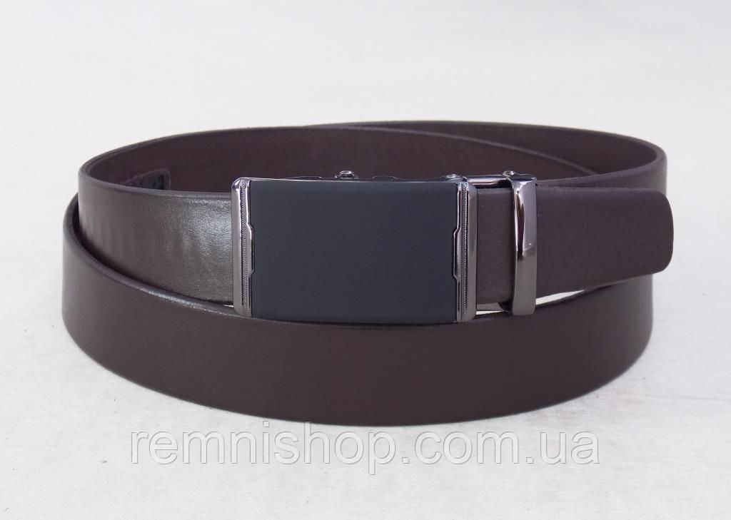 Темно-коричневый мужской ремень автоматический