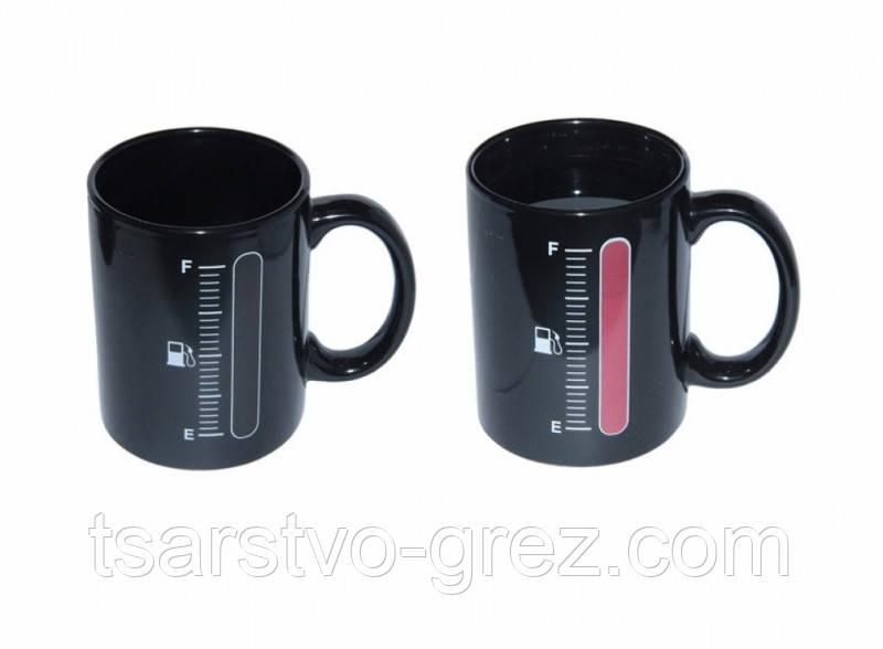 Чашка-хамелеон Заправка (Черный)