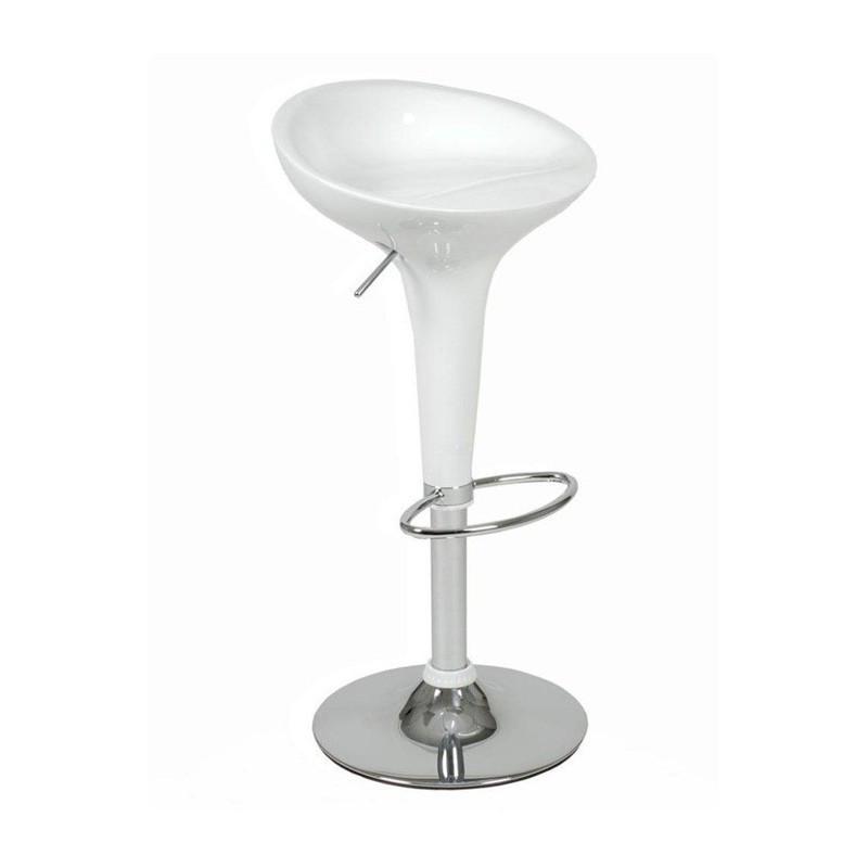 Стілець барний регульований Епл, пластик, колір білий