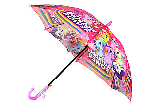 Детский яркий зонт трость полуавтомат на 8 спиц со свистком с рисунком единорога, для мальчиков и девочек
