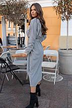 """Ангоровое свободное платье """"Альмира"""" с длинным рукавом и поясом (большие размеры), фото 3"""