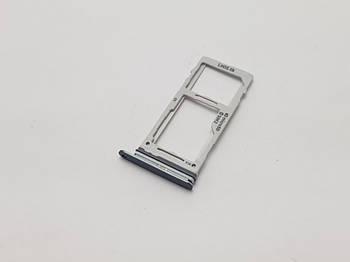 Держатель сим карты Samsung Galaxy S9 SM-G960F серый Сервисный оригинал с разборки