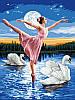 Картина по номерам DIY Babylon Лебединое озеро (VK008) 30 х 40 см
