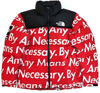 Пуховик зимний The North Face (TNF) Nuptse 700 x Supreme - Red - М, L, XL, XXL