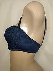 Бюстгальтер Анжелика Anfen кружевной 75D.80D.85D (темно-синий), фото 2