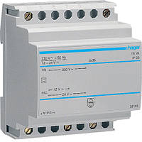 Трансформатор на  DIN-рейку, 230В/24 В (0,67А), 230В/12 В (1,33А), 4м Hager