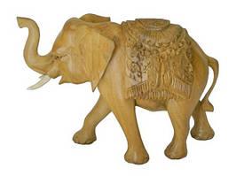 Слон деревянный с резьбой 22*9*16 см. (Сс-94) Индонезия