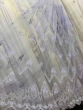 Фатиновый тюль с нежной вышивкой 24Н99