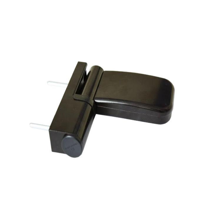Петля 3-D для пластиковых дверей 100 кг коричневая