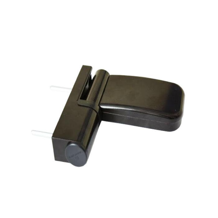 Петля 3-D для пластиковых дверей 80 кг коричневая