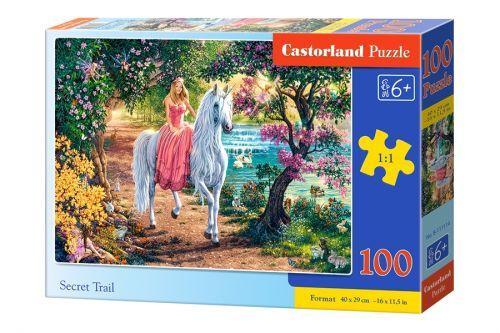 """Пазли """"Кошеня в квітковому саду"""" Castorland 100 елементів"""