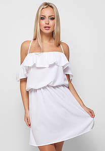 Витончене біле повсякденне плаття Dinaly