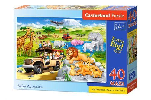 """Пазлы Макси """"Увлекательное сафари"""", 40 элементов B-040322 Castorland  для детей"""