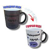 Печать на чашке хамелеон 330мл (полуматовая цветная внутри), фото 3