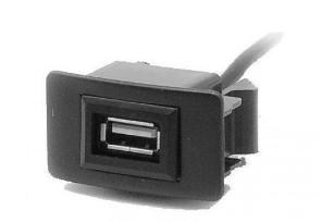 Разъем USB в штатную заглушку Carav 17-005 для а/м ACURA /HONDA Jazz/City/Civic (1 порт)