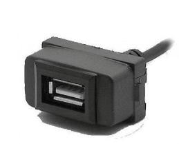 Разъем USB в штатную заглушку Carav 17-007 для MITSUBISHI Lancer/Pajero/Space Wagon (1 порт)