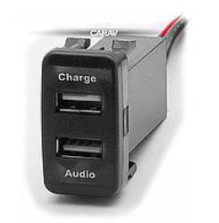 Разъем USB в штатную заглушку Carav 17-103 Toyota/Lexus / 2 порта: аудио + зарядное устройство