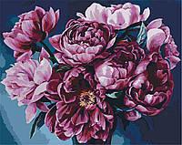 Раскраска по цифрам Идейка Королевский букет Худ Диана Тучс (KH2082) 40 х 50 см, фото 1