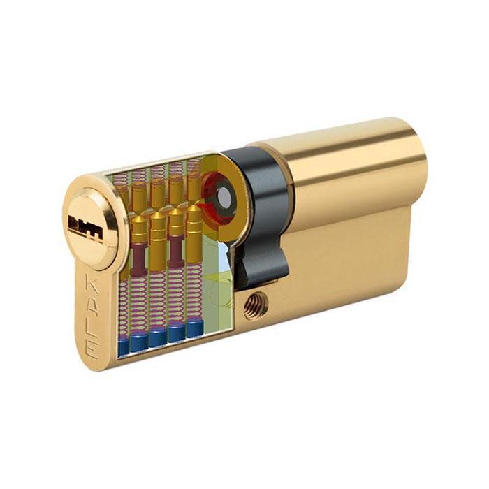 Сердцевина замка двери KALE 164 BNE 26+10+35: 71 mm латунь 5 ключей