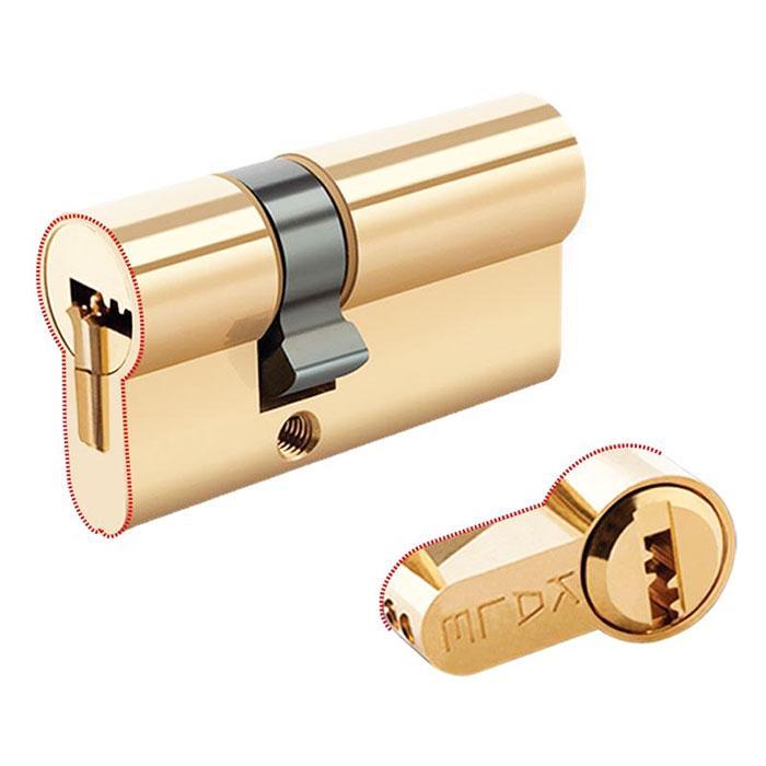 Цилиндры Kale 164 KTB S 35+10+35 80 mm латунь 5 ключей
