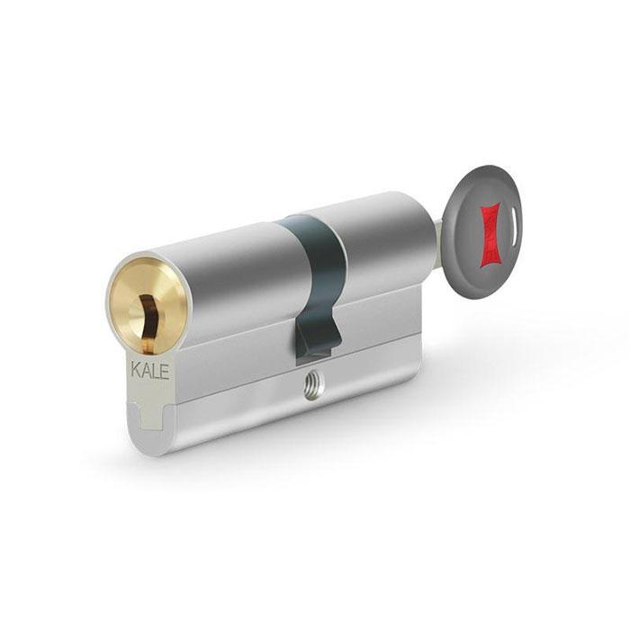 Цилиндры Kale 164 CEC 40+10+40=90 mm никель 5 ключей с вертушком