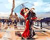 Раскраска по номерам (цветной холст) DIY Babylon Premium Париж - город влюбленных (NB1431) 40 х 50 см