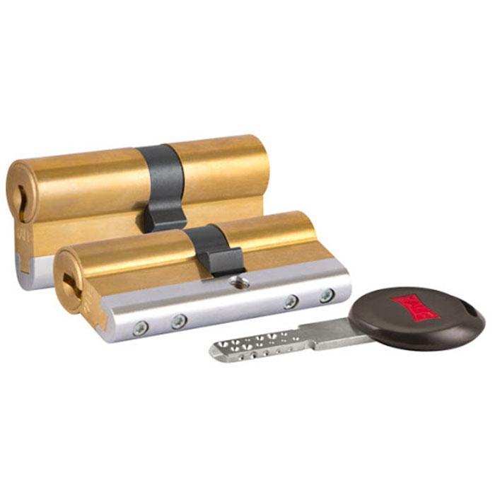 Цилиндры Kale 164 CEC 30+10+30 70 mm латунь 5 ключей с вертушком