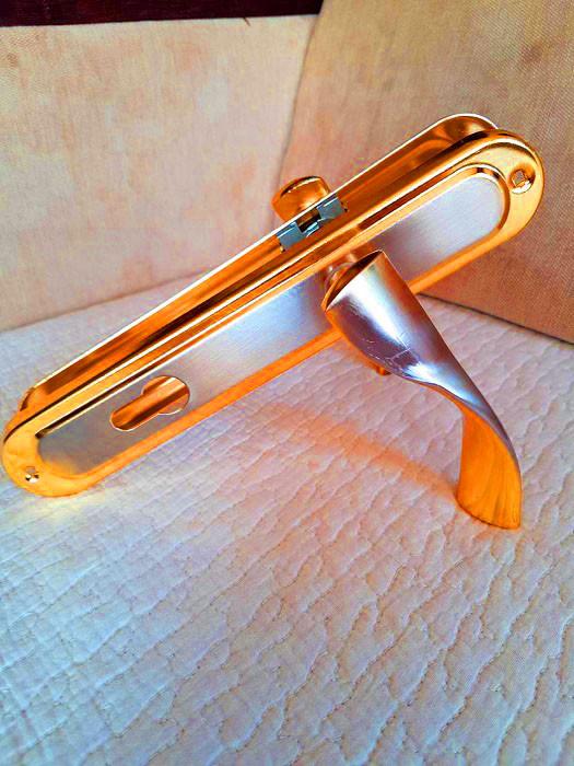 Ручка на планке алюминий 85 мм Hi-LUKE BH43B (P04-H50SN/GP)