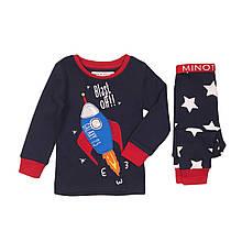 Детская пижама для мальчиков 1-2 года, 80-92 см Minoti, 80-86 cм