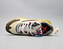 "Кроссовки Travis Scott x Nike Air Max 270 React ""Бежевые"", фото 2"