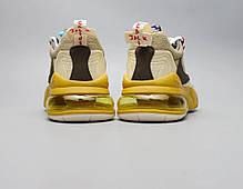 "Кроссовки Travis Scott x Nike Air Max 270 React ""Бежевые"", фото 3"
