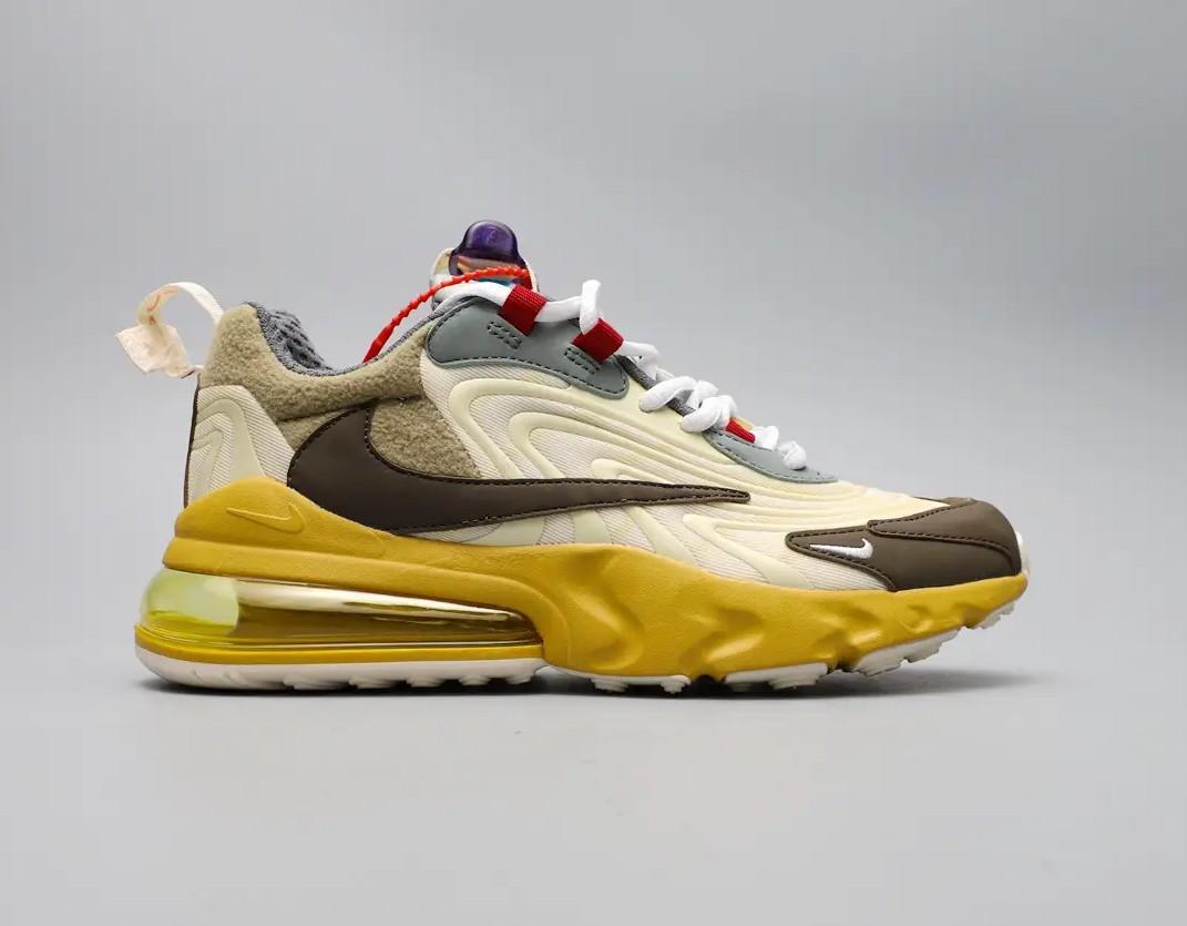 "Кроссовки Travis Scott x Nike Air Max 270 React ""Бежевые"""