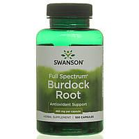 Корень лопуха, Burdock Root, Swanson, 460 мг, 100 капсул, фото 1