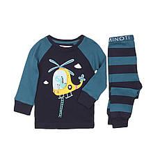 Детская пижама для мальчиков 1, 2 года, 74-92 см Minoti, 74-80 см