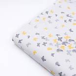 """Фланель детская """"Маленькие бабочки"""" серо-жёлтого цвета, ширина 240 см, фото 6"""