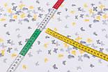 """Фланель детская """"Маленькие бабочки"""" серо-жёлтого цвета, ширина 240 см, фото 4"""